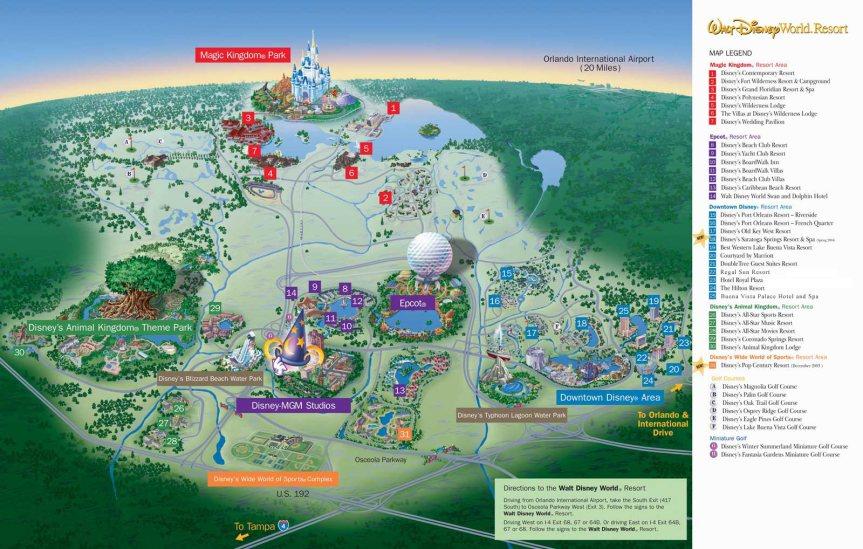 Disney Resort Maps – Disney Talk Blog