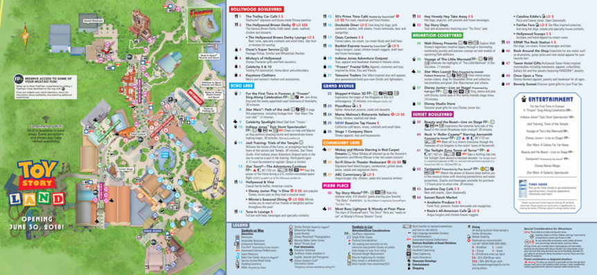 Latest DHS Map Includes Toy Story Land – Disney Talk Blog